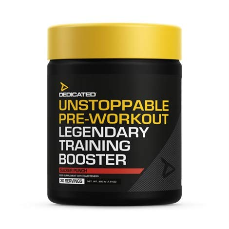 Dedicated Nutrition Unstoppable Pre-Workout Booster Fitness Bodybuilding 225g (Pianapple)