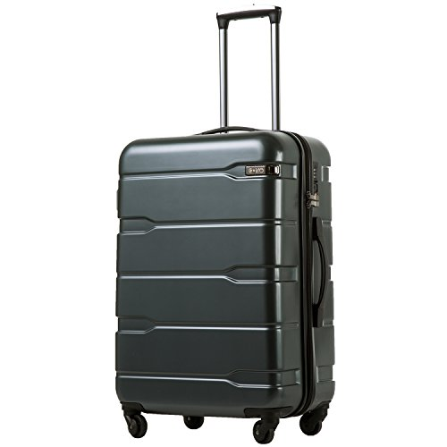 Coolife Luggage Suitcase PC+ABS Spinner Computer perfect for carry on