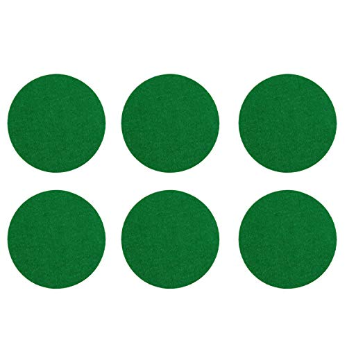 For Sale! Kasteco 6 Pack Self Adhesive Air Hockey Mallet Felt Pads, Green, 94mm