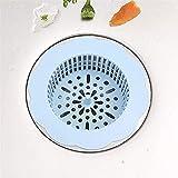 lidun Filtro para bañera, ducha, lavabo, filtro de canalización, filtro de pelo para cuarto de baño, accesorio de cocina (Blue4pcs(1))