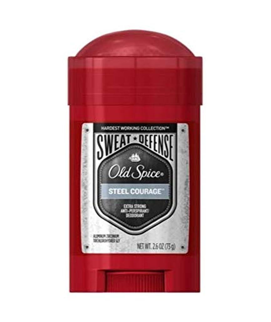 賃金然とした焼くOld Spice Hardest Working Collection Sweat Defense Steel Courage Antiperspirant and Deodorant - 2.6oz オールドスパイス ハーデスト ワーキング コレクション スウェット ディフェンス スティール カレッジ デオドラント 73g [並行輸入品]