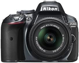 Nikon D5300 24.2 MP CMOS Digital SLR Camera with 18-55mm f/3.5-5.6G ED VR II AF-S DX NIKKOR Zoom Lens (Grey)