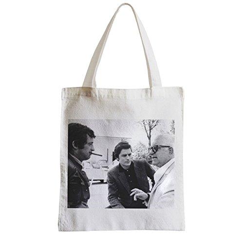 fabulous Große Tasche Sack Einkaufsbummel Strand Schüler jean Jean-Paul Belmondo gabin alain delon