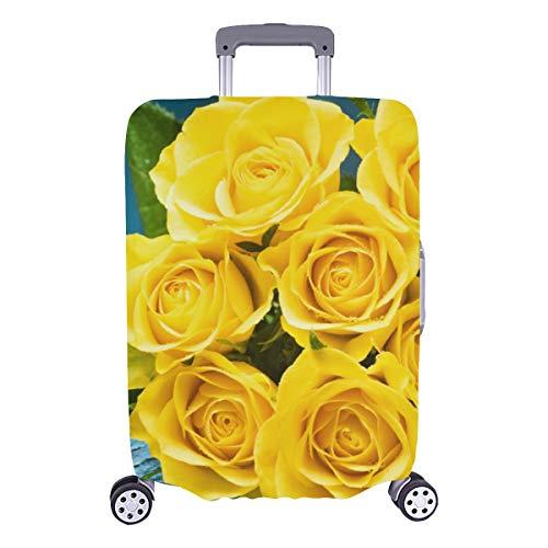 Funda protectora de maleta Rosa amarilla brillante Banquete Funda protectora lavable duradera Se adapta a 28.5 X 20.5 pulgadas...