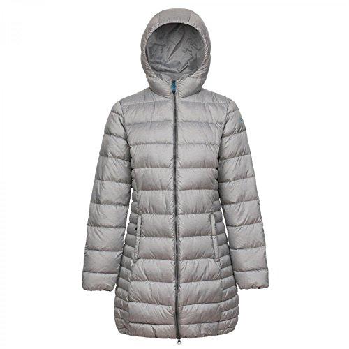 CMP Damen Daunen Mantel Woman Fix Hood 3Z15356M Grey Melange 44
