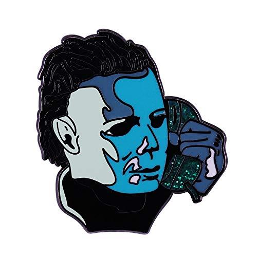 Preisvergleich Produktbild wangk Pin die Texas Kettensäge Massaker & Scream Horror Film Schmuck Halloween Broschen