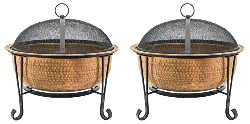 CobraCo FTCOPVINT-C Vintage Copper Fire Pit (Pack of 2)