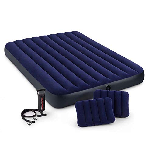 SHENAISHIREN Air mattress, double air bed (accommodating 2 people), thick air bed and indoor bed with inflatable hand pump and double pillows, up to 600 pounds of weight