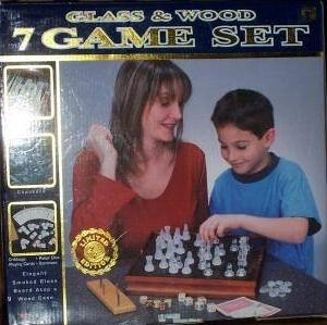 7-in-1 Wood & Glass Chess Set