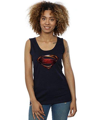 DC Comics Damen Justice League Movie Superman Emblem Muskelshirt Large Marine