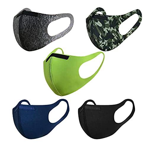 Kids_Mask, 5Pcs Kids Face_Mask Childrens Washable Reusable Cloth Face_Mask For Kids Boys & Girls, Dust Protection
