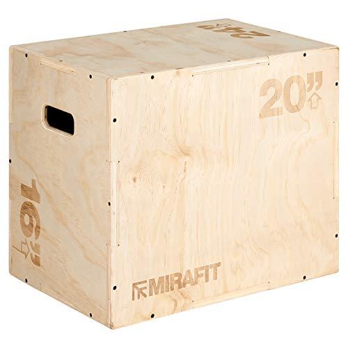 MiraFit 3-in-1 Plyobox Sprungbox aus Holz - 61 x 51 x 40.5 cm