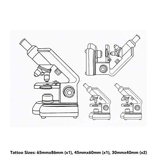 Azeeda 4 x 'Mikroskop' Temporäre Tätowierungen (TO00033259)