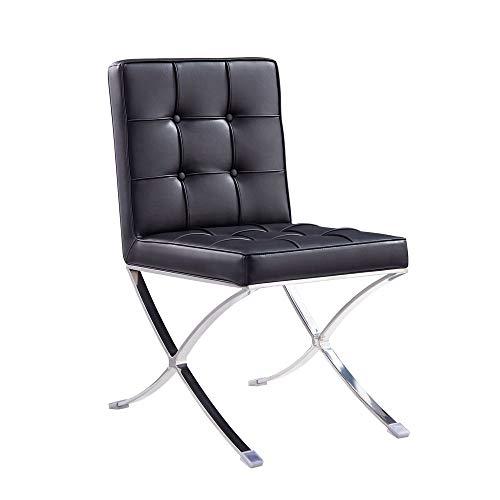 Vivol Esstisch Stuhl Barcelona Schwarz - modernes Design Retro Sessel auch für Bar und Lounge - Erhältlich in DREI