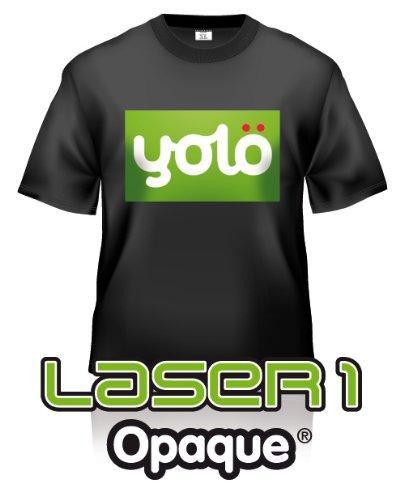 yolö 25 fogli di formato a4 su laser 1 opaque® laser di scambio di calore di carta t-shirt/trasferimenti