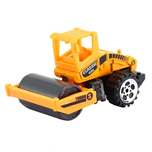 bansd Mini Modelo de Coche de ingeniería de aleación, Tractor, Modelo de camión volquete, Juguete clásico, Coche de Carretera Amarillo