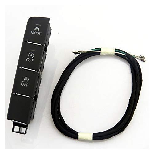 furong Ajuste for el botón de Volkswagen VW Passat B8 Modo desconecte el Interruptor de Apagado 3GD 927 137 927 137 A 3G0 AC (Color : Switch and Wire)