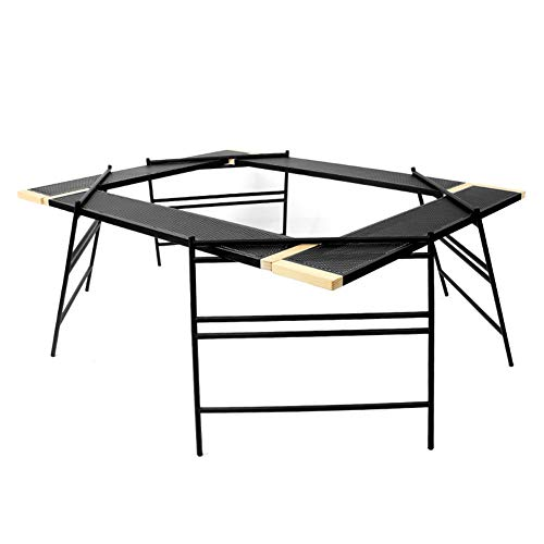 CQ Extérieur épissage Table De Barbecue Multifonction Portable Camping Pliable Table à Filet Table Sauvage