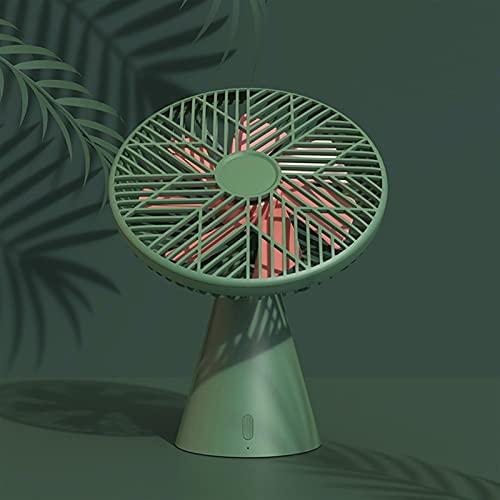Silent Rainforest Mini ventilador para exteriores, camping, hogar, oficina, USB, recargable, de mano, 90° (color: verde, tamaño: enchufar)