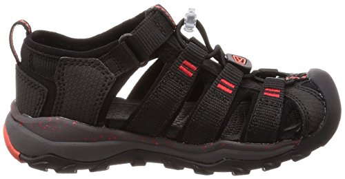 KEEN スポーツサンダル 1018431 キッズ Black Fiery Red US 3 22 cm
