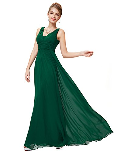 Ever-Pretty Damen Chiffon V-Ausschnitt Lang Abendkleider Abschlussball Kleider Größe 38...