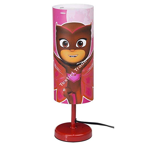 Nachttischlampe PJ Masks Nachtlicht Tischlampe 1959 Rot Einheitsgröße