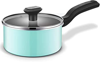 Stainless Steel 1.6 Quart Pan With Glass Lid, Comfortable Handle, Suitable For Home Kitchen Dining, Easy To Clean.