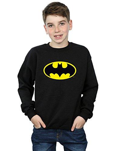 DC Comics Jungen Batman Logo Sweatshirt 7-8 Years Schwarz
