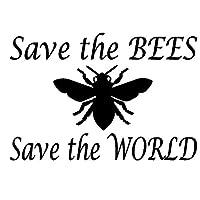 バンパーガラスステッカー 12.7CM X 18.6CM車のステッカーは世界のステッカーを保存するために蜂を保存します (Color : Black)