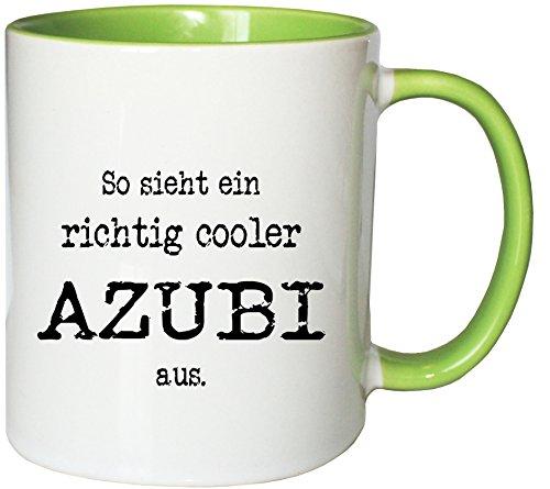 Mister Merchandise Kaffeetasse Becher So Sieht EIN richtig Cooler Azubi