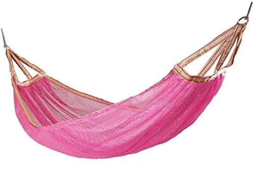 MCE Hamaca para dormir, camping, hamaca, de viaje, hamaca, hamaca para camping, jardín, hamaca (color: rosa)