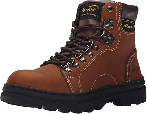 "ADTEC Men's 6"" Work Hiker Boots, Slip Resistant, Leather, Construction Boot + Hiking, Crazy Horse, 11 M US"