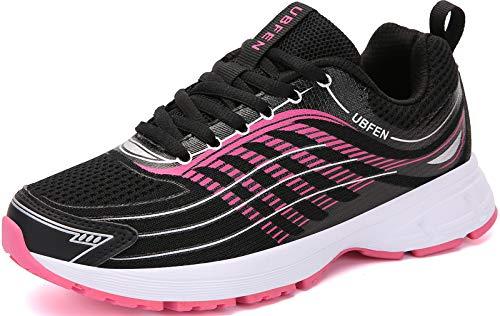 UBFEN Laufschuhe Herren Damen Turnschuhe Fitness Schuhe,41 EU,Schwarz Rosa