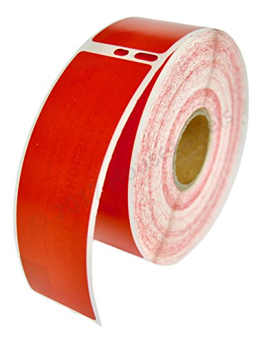 """2 Rolls; 350 Labels per Roll Compatible with DYMO 30252 RED Address Labels (1-1/8"""" x 3-1/2"""") - BPA Free!"""