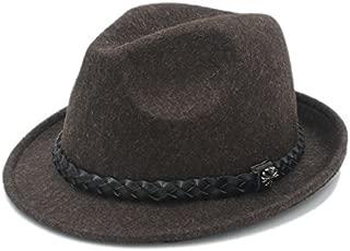 SGJFZD Women Men Ribbon for Elegant Outback Fedora Hat with Tassel Bohemia (Color : Coffee, Size : 57-58cm)