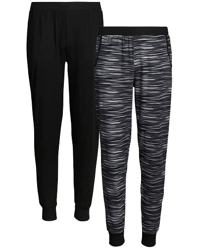 Only Girls Sweatpants - Super Soft Athletic Jogger Active Pants (2 Pack), Size 8/10, Black/Space Dye
