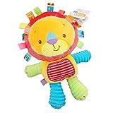 Inchant Jouet en Peluche Bébé Lion Mignon en Peluche avec Taggies, Hochet Sensoriel pour Les Tout-Petits, Meilleurs Cadeaux pour Bébé