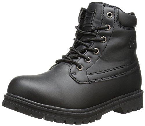 Fila Edgewate 12 Hiking Shoe (Little Kid/Big Kid), Black/Black, 4 M US Big Kid