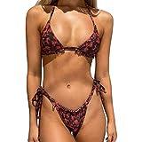 Bikini Set Mujer Push Up Traje de baño de Dos Piezas Mujer Moda Estampado Bañador Ajustables Dos Piezas Tops de Bikinis Ropa de Baño Playa Swimwear