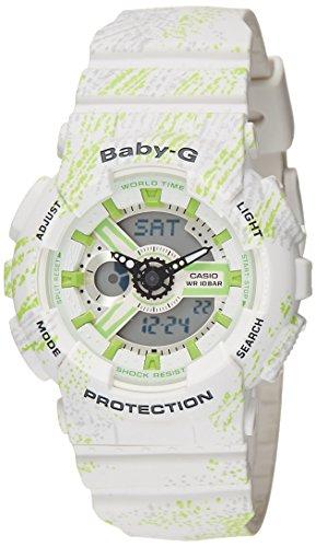 Casio Women's Baby G BA110TX-7A White Rubber Quartz Sport Watch