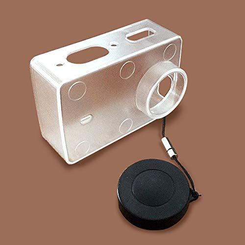 iMusk Schutzhülle für Xiaomi Yi 4K & 4K Plus Action Kamera Zubehör transparent Schutzhülle mit Lens Cap für Xiao Yi 4K/4K+ CAM