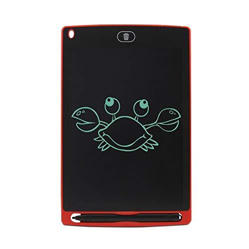 BXGZXYQ 8,5-Zoll-LCD-Tablette Starke Handschrift Zeichenbrett der Kinder Notizblock LCD-Schreibens-Tablette Digital-Schreibens-Auflage for Laptop (Farbe : ROT)