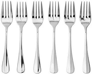 Oneida Savor Salad Forks, Set of 6,stainless steel silver