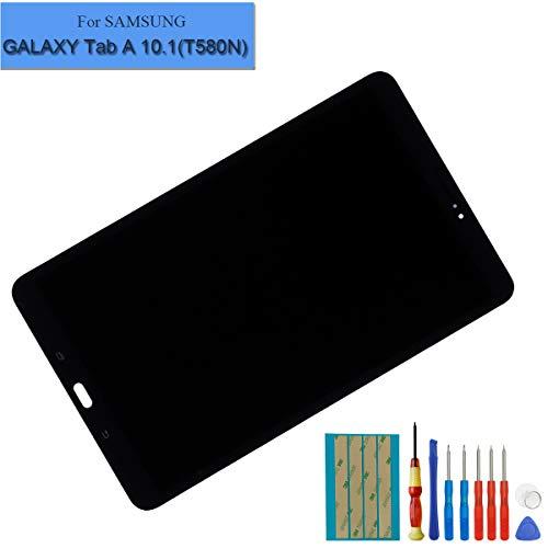 E-YIIVIIL Nueva pantalla LCD compatible con Samsung Galaxy Tab A 10.1 2016 SM-T580 T585 T587 pantalla táctil digitalizador de montaje de cristal negro + herramientas