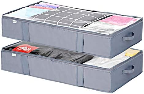 Under Bed blanket Storage Bags Organizer Under Bed Storage Containers 2Pack with Strengthened product image