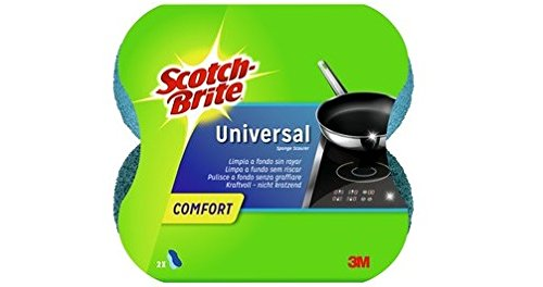 Scotch-Brite UNCNS2 Universalschwamm Comfort, ergonomische Form, blau, 2 Stück
