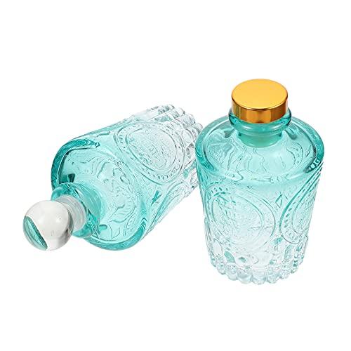 HEALLILY 2 Uds. Mini Botella Cuentagotas de Viaje Botellas de Aceite Esencial Frascos Recargables DIY Fragancia Cosmetic Sample Container Líquido Perfume Eye Droppers Botella 50Ml