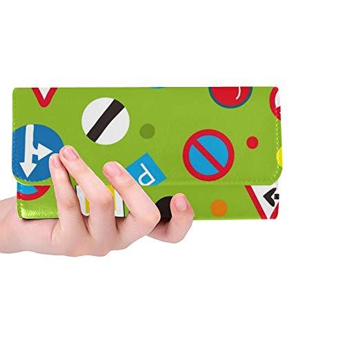 Einzigartige benutzerdefinierte Verkehrszeichen lustige Design Frauen Trifold Wallet Lange Geldbörse Kreditkarteninhaber Fall Handtasche