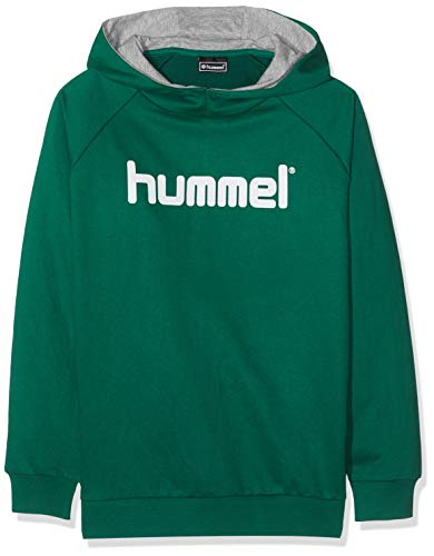 Hummel Kinder HMLGO KIDS COTTON LOGO HOODIE Kapuzenpullover, Evergreen, 164