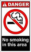 個人的な場所はこのエリアで禁煙を示します危険2901レトロな鉄の塗装金属のポスター警告プラークアートガレージの家の庭の店バーコーヒー